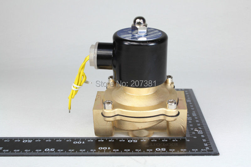 "2way2position 2W250-25 DC12V 1"" Electric Solenoid Valve Water Air N/C Gas Water Air 2015 Free Shipping(China (Mainland))"