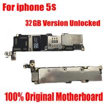 Хорошие рабочие Официальный Материнская Плата для iPhone 5S Плате 32 ГБ версия разблокирована с чипами Без Отпечатков Пальцев Плата логики