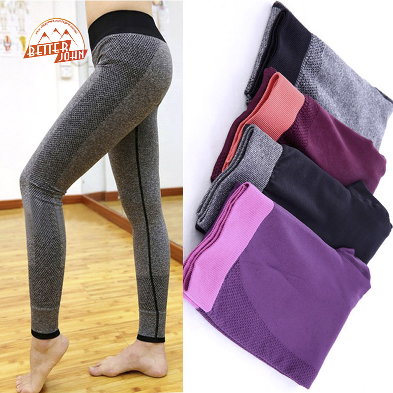 women tight sportwear nice leggings high elastic thin sports yoga pants fitness running long. Black Bedroom Furniture Sets. Home Design Ideas