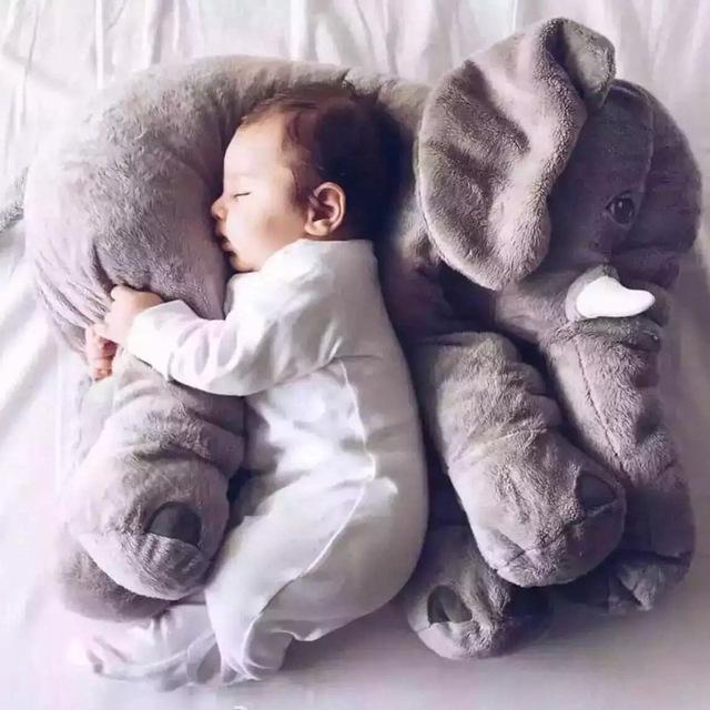 60 см Красочные Гигантский Слон Плюшевые Игрушки Чучела Животных Детские Игрушки Животных Форма Подушки Home Decor Бесплатная Доставка