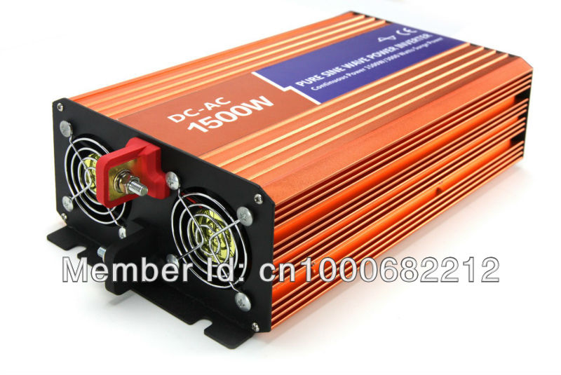 24V,1500W Off-grid Pure Sine Wave Power Inverter For Solar/Wind Energy System,Output 110V/220V,50/60Hz 2 years Warranty,(China (Mainland))