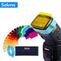 20pcs Selens SE CG20 Flash Gel Color Filters for Metz Godox D7100 SB910 Speedlite Speedlight Flashgun