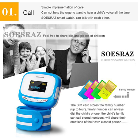 Children Smart Watch Phone GPS Position Tracking SOS Remote Control Bidirectional Call Kids Old Safe Mobile Phone Alarm Clock(China (Mainland))