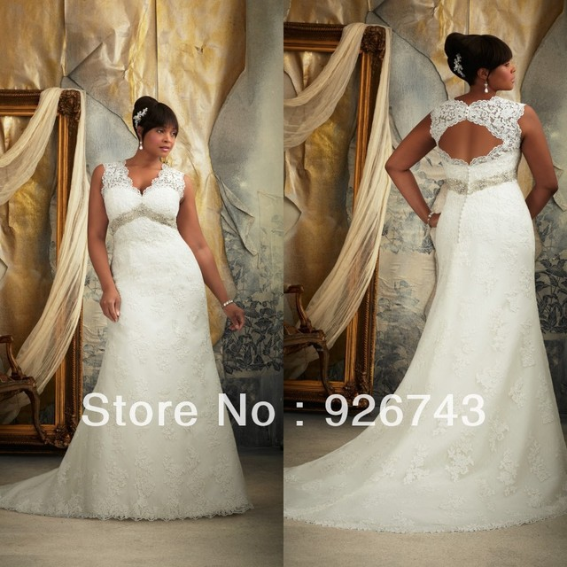 V Neck Wedding Dresses With Cap Sleeves - High Cut Wedding Dresses