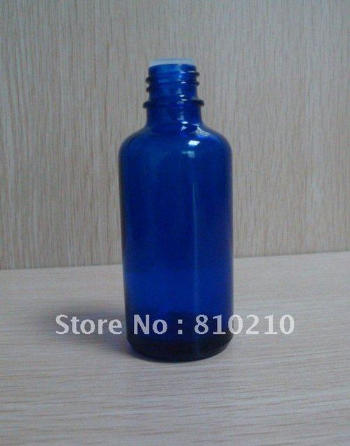 50ml blue essential oil bottle