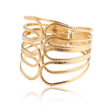 Indian pulseras gold plated bangle punk fine jewelry pulseiras party bracelet femme bracelets for women pulseira rock bangles(China (Mainland))