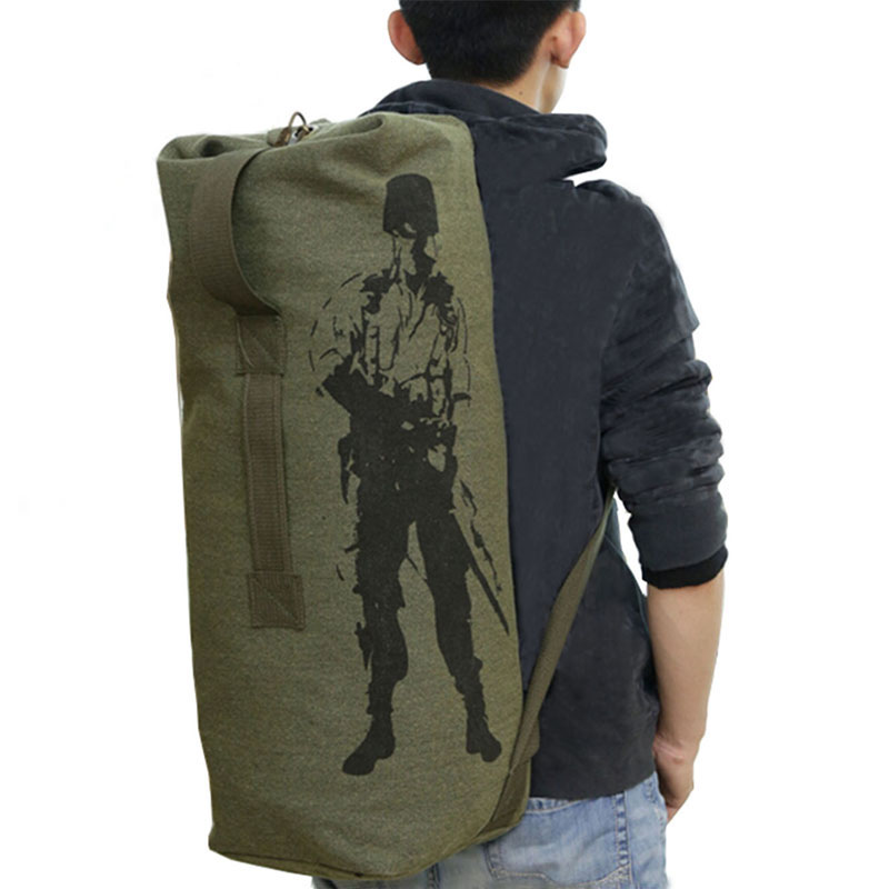 Outdoor Travel Luggage Army Bag Men Military Backpack Canvas Mountain Hiking Backpack Camping Tactical Rucksack mochila