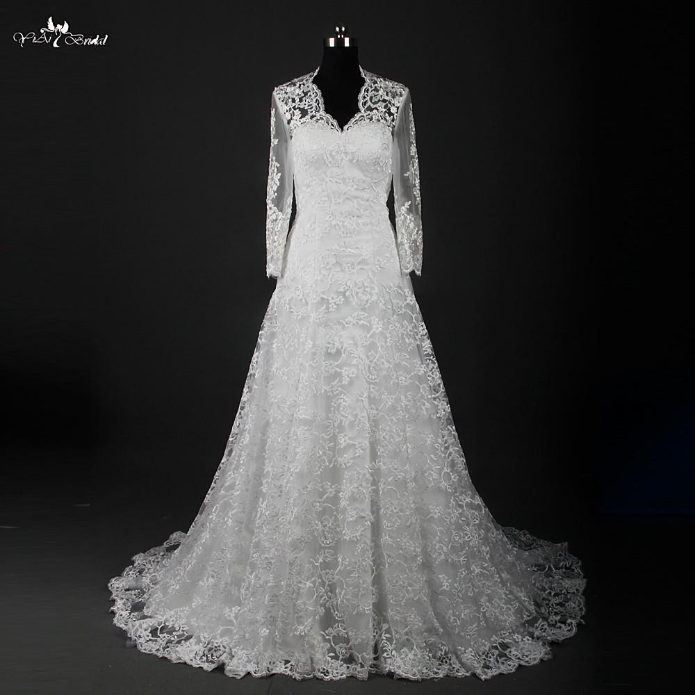 Buy rsw836 winter vintage lace long for Fur shrug for wedding dress