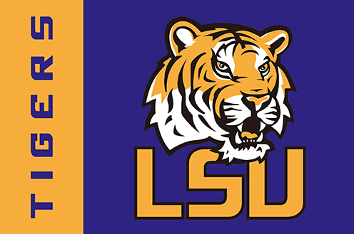 LSU Tigers you are in country flag 90x150cm polyester digital print banner with 2 Metal Grommets 3x5ft(China (Mainland))