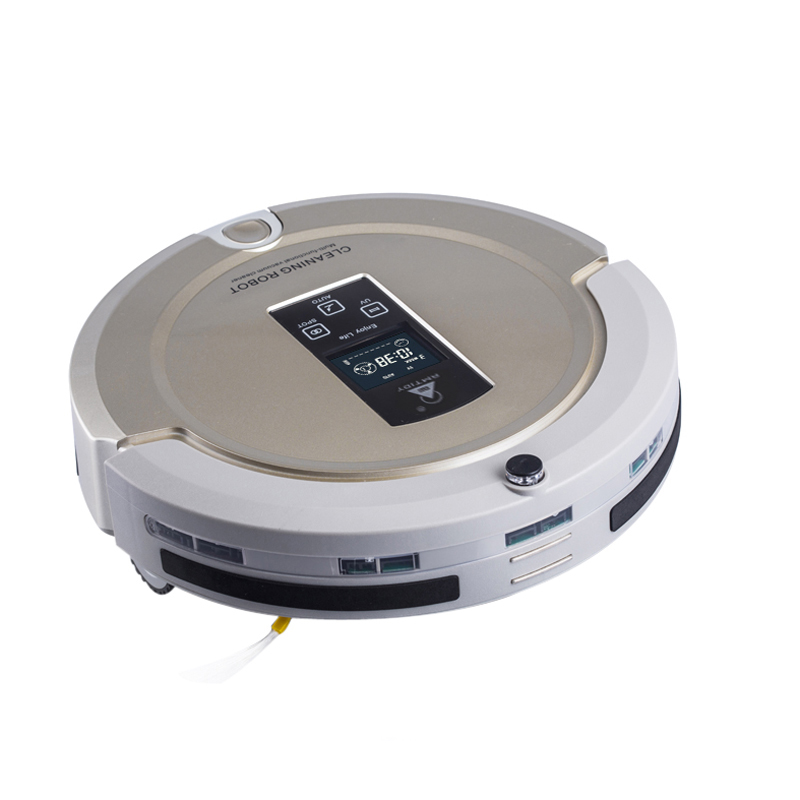 AmTidy A325 Multifunction Intelligent Robot Vacuum Cleaner with Sweep Vacuum Mop Sterilize LCD Touch Screen Schedule Self-charge(China (Mainland))