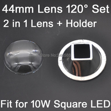 Buy 1 Set 44mm Optical Glass LED Lens 120 degree + Reflector Collimator 2 1 Kit 10W Square High Power LEDs for $2.40 in AliExpress store