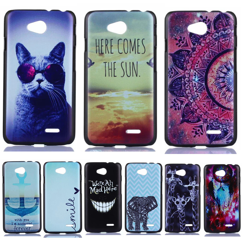 Anchor Tribal Owl Lion Cartoon Pattern Matte Back Case for LG Optimus L70 L65 D320 D325 D280 Cell Phone Protective Cover Bags(China (Mainland))