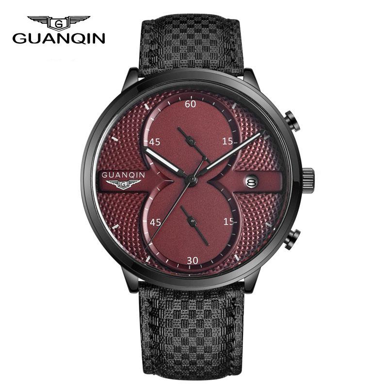 luxury brand guanqin big dial designer quartz watches men 39 s sports