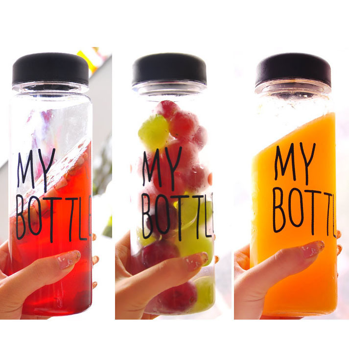 2015 Hot Sale Water Bottle My Bottle Plastic Sports Bike Bottle Lemon Juice Readily Cup Space Cup 500ml Free Shipping U0213(China (Mainland))