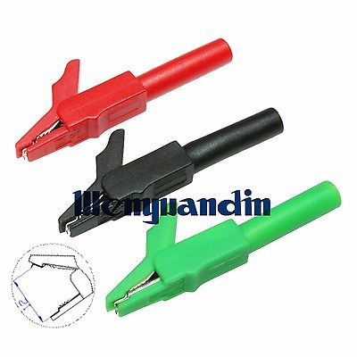 10x Insulated Crocodile Alligator Clip Test Connect 4mm For Banana Plug Multimeter CL4258<br><br>Aliexpress