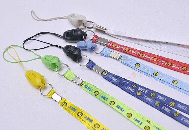 10pcs/bag 0.7 cm Smile Face ID Badge Neck Lanyard Wire Rope Mobile Phone Straps(China (Mainland))