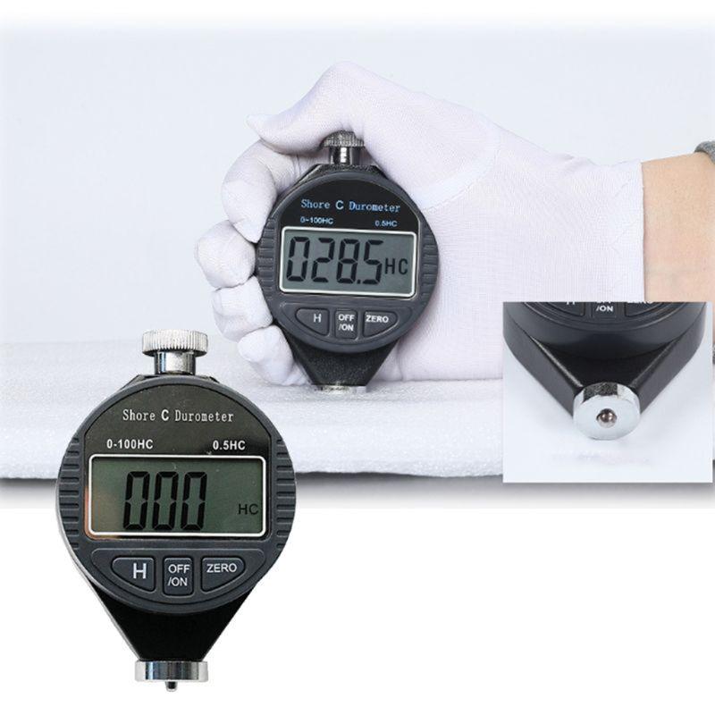Probador de dureza-Digital 100HD C Dur/ómetro Shore Caucho Medidor de dureza Medidor de pantalla LCD