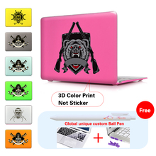 Print Skull Pirate Pattern Laptop Cover Case For Apple MacBook Air 11 13 Pro Retina 13 New 12 inch Hard Shell Protective Case