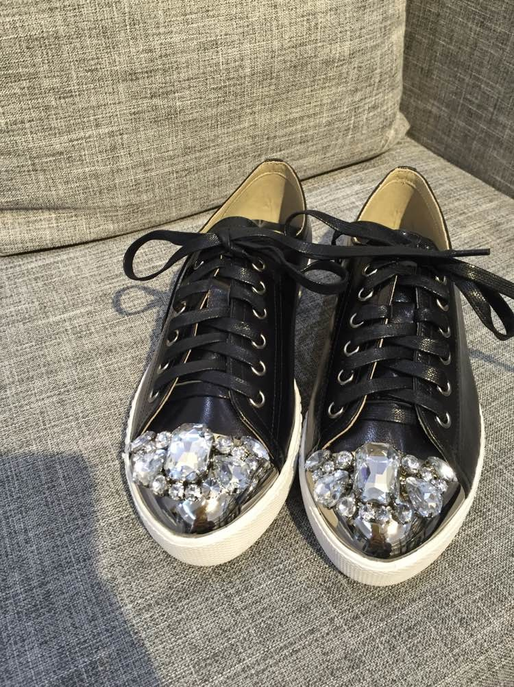 2016 High Quality womens brand genuine leather lace-up single shoes  black/white metal toe low cut casual shoes,Hot sale!!!<br><br>Aliexpress