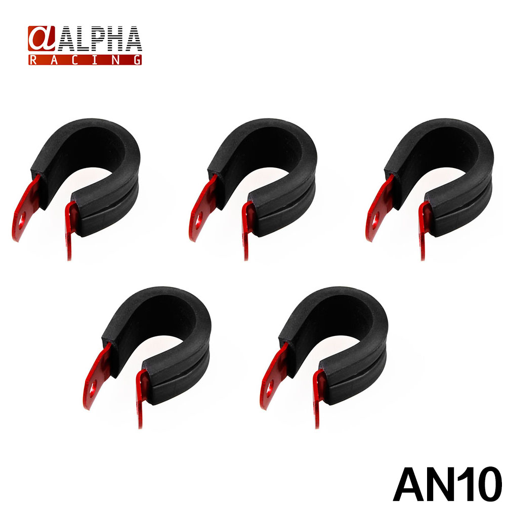 """Alpha Racing-New 5pcs hose Insulated Clamps Cushioned P-Clamps 5/8"""" (15.8mm) Suit -10 PTFE & -8 Braid hose(China (Mainland))"""