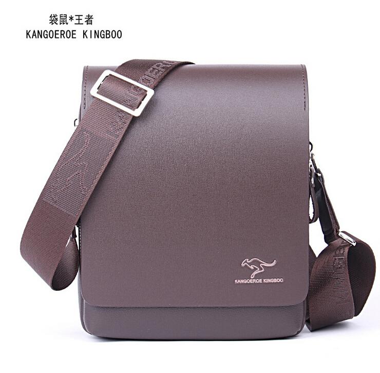 Fashion Designer Kangaroo Brand Genuine Leather Mens Messenger Bags Men Bag mens business bag high quality shoulder bags<br><br>Aliexpress