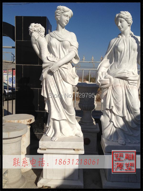 marble western character statue courtyard decoration European man-made goddess sculpture factory supply - chunjing cao's store