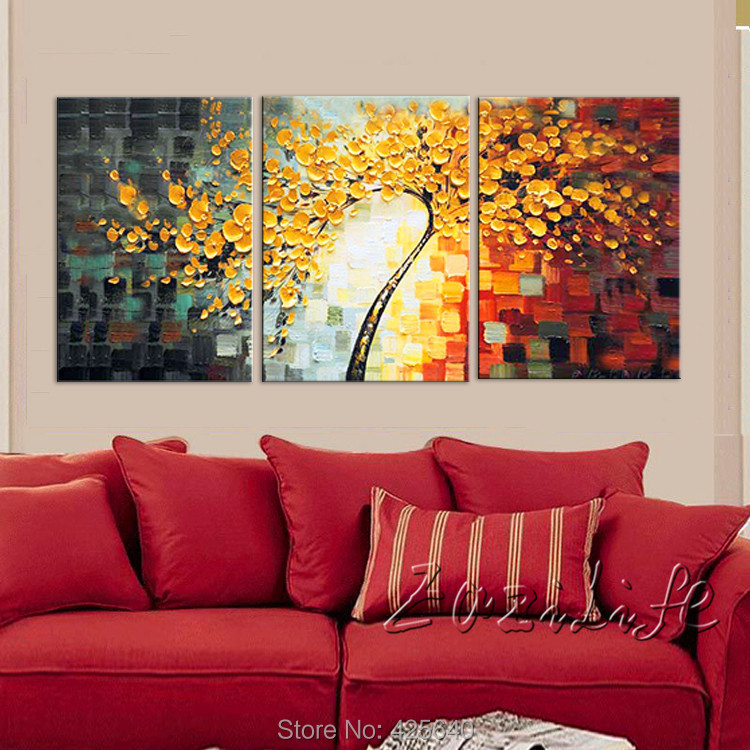 2018 oil painting 3 panel canvas cuadros decoracion wall art picture
