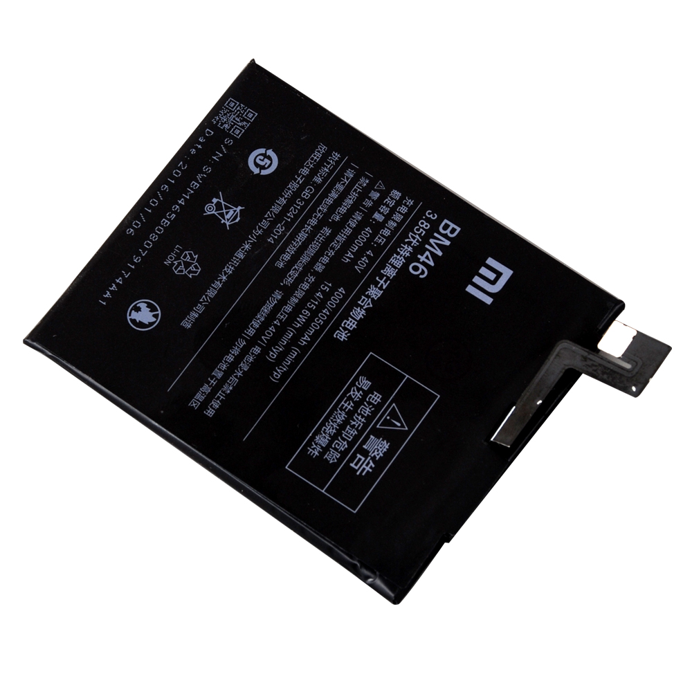 100% Original Backup For Xiaomi BM46 Battery For For Xiaomi BM46 Smart Mobile Phone+ + Tracking Number+ In Stock