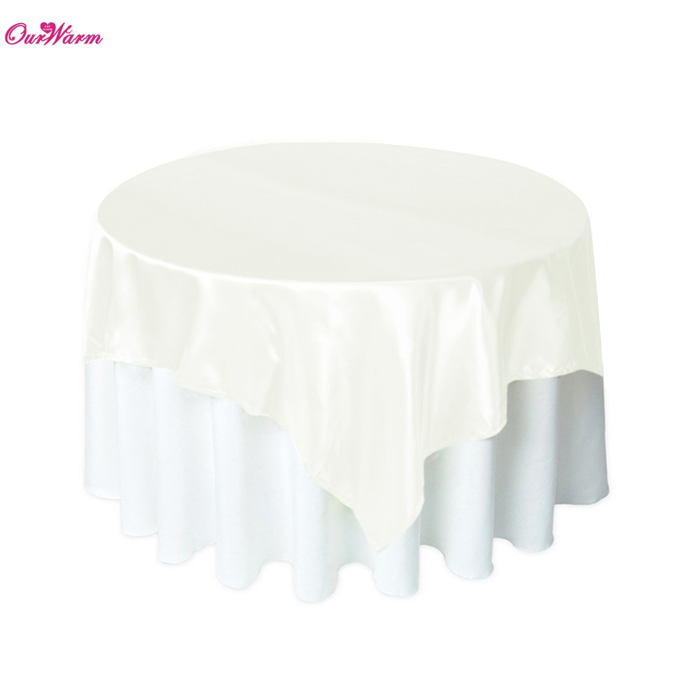 "5pcs/lot 57"" Satin Fabric Banquet Tablecloths Round Wedding Table Cover Decoration Table Cloth Wedding Party Decoration 3 Colors(China (Mainland))"