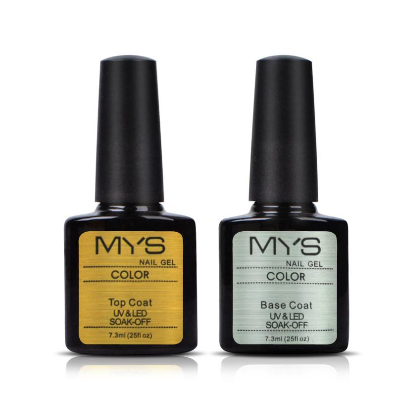 new brand Gel Polish uv Gel Base and Top Coat 7.3ml Led Nail Polish Color Gels for Nails Primer Gel Varnish Nail Art(China (Mainland))