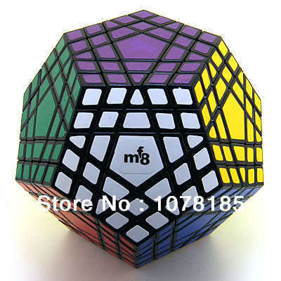 Magic cube mf8 5 5 gigaminx black-and-white magic square smooth gift present free shipping(China (Mainland))