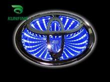 Free Shipping Car LED emblem Car LED Badge light Car led mark for Toyota RAV4/COROLLA Size 10*6.8cm Drop shipping 3 COLORS(China (Mainland))