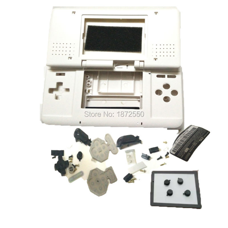 New Arrival High Quality White Color Housing Cover Replacement Shell Original Logo For Nintendo DS NDS Console With Buttons Lens(China (Mainland))