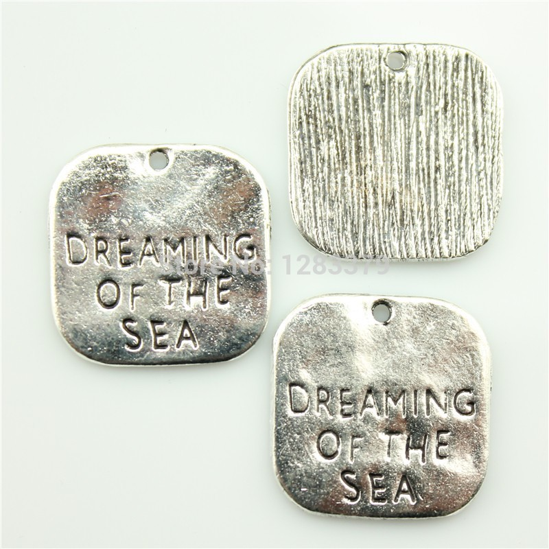 Charms DREAMING OF THE SEA 40 pieces/lot Size:19mm No.S01262 Hot Sales Antique silver DIY Retro Jewelry Accessories Vintage - 99Cent Shop store