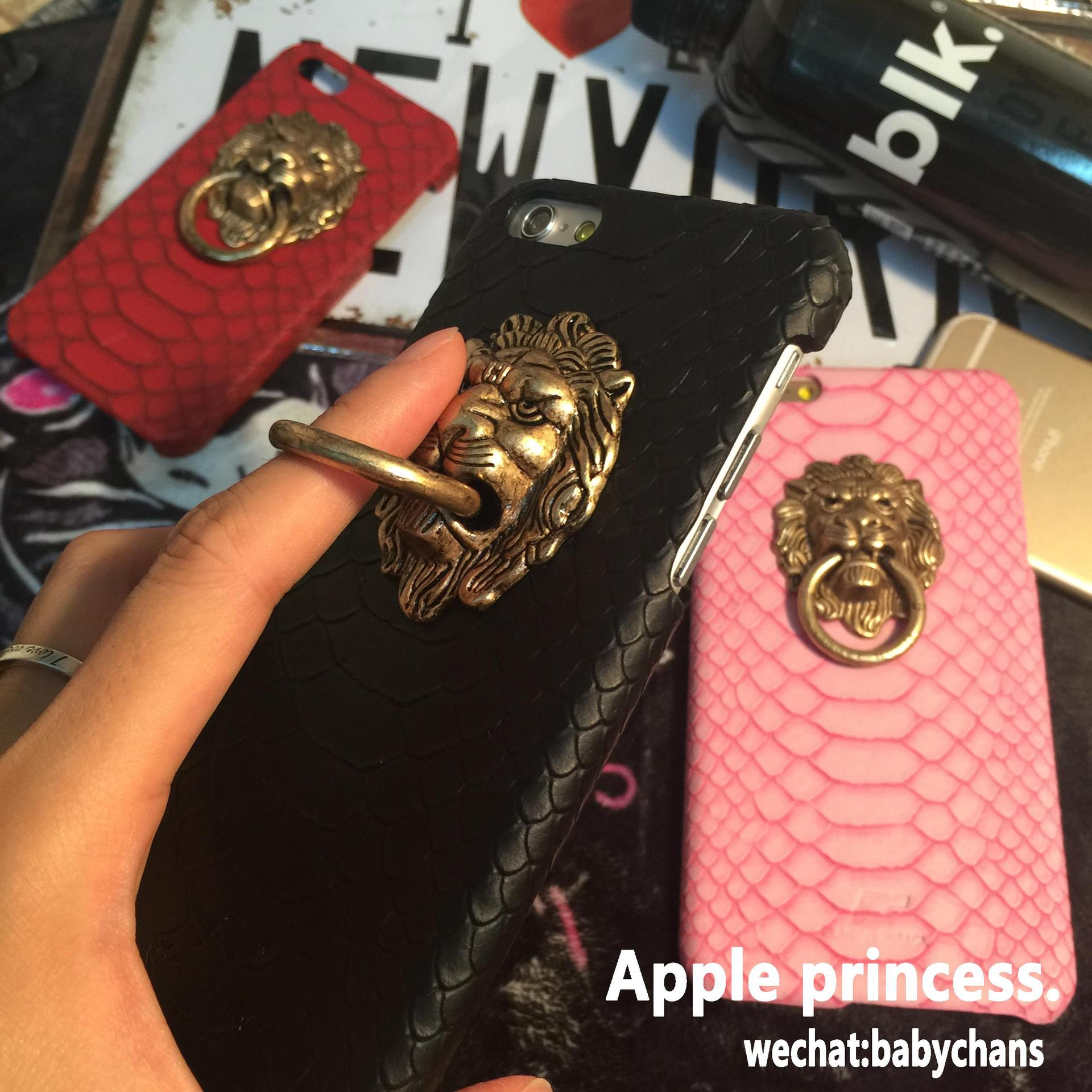 Fashion Deluxe Lion Head Snake Skin Pattern Hard Back Case Cover iPhone 6 6s Plus - Get it Happy store