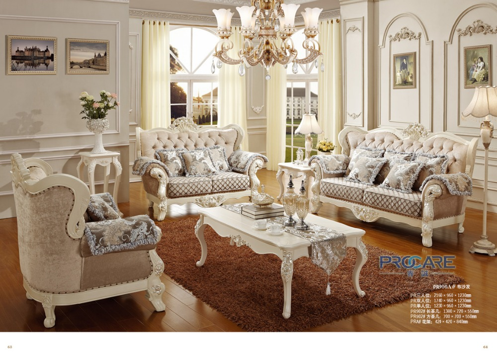 2016 sofas for living room luxury european style fabric couch sofa set living room furniture - Add luxurious look home royal sofa living room ...