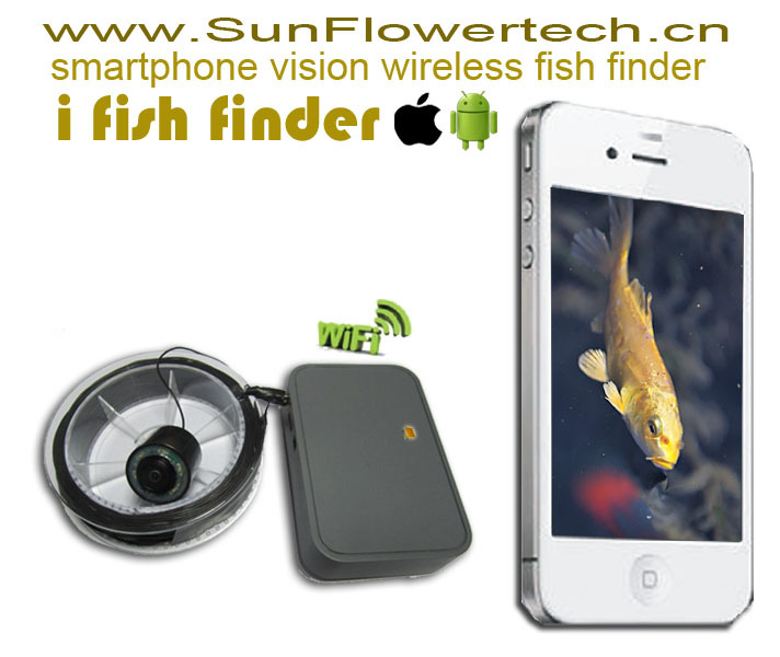 Wireless video fishfinder for iphone and android in fish for Phone fish finder