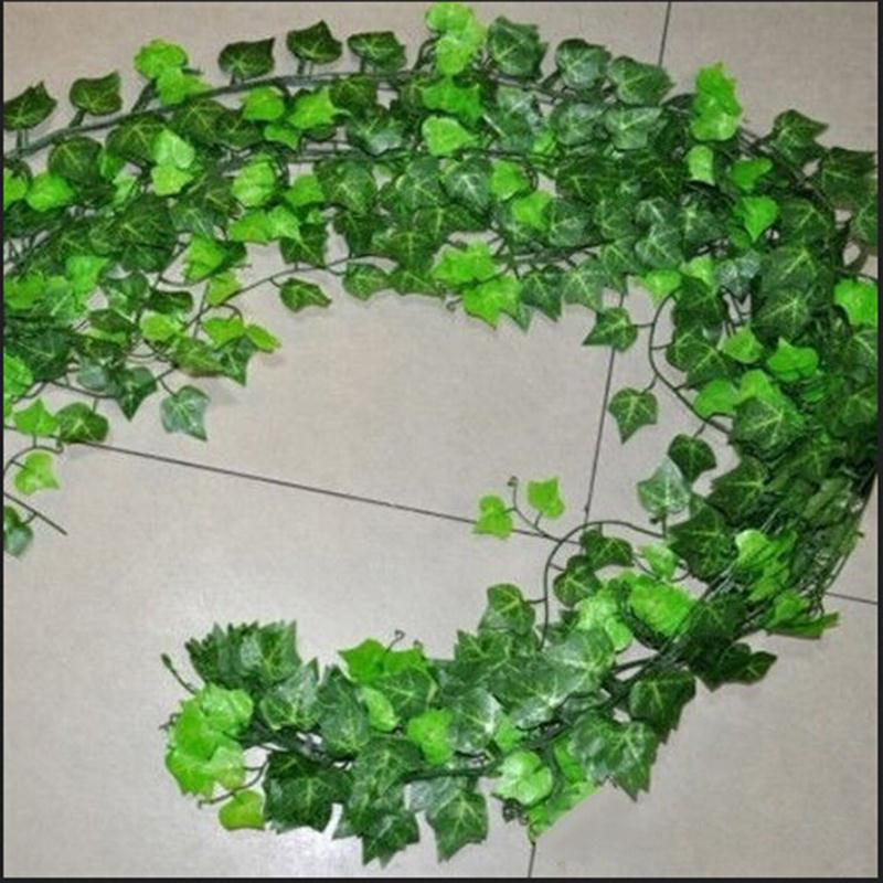 Home Decor 2.5m Delicate Artificial Ivy Leaf Garland Plants Vine Fake Foliage Flowers Beatiful Party Wedding Supplies(China (Mainland))