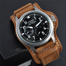 Parnis big Pilot black dial Power Reserve Chronometer automatic mens watch I017-A PA4705