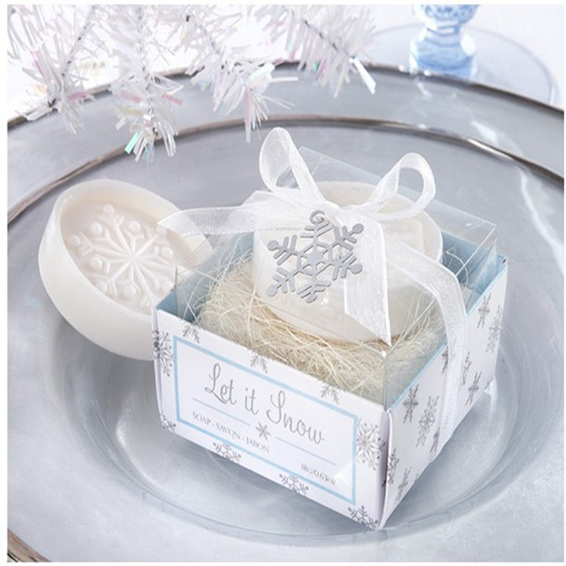 2016 New hand Soaps Snow pattern Wedding Souvenirs Bridal Shower Favor Wedding Soap Gifts For Guests 10 pcs/lot(China (Mainland))
