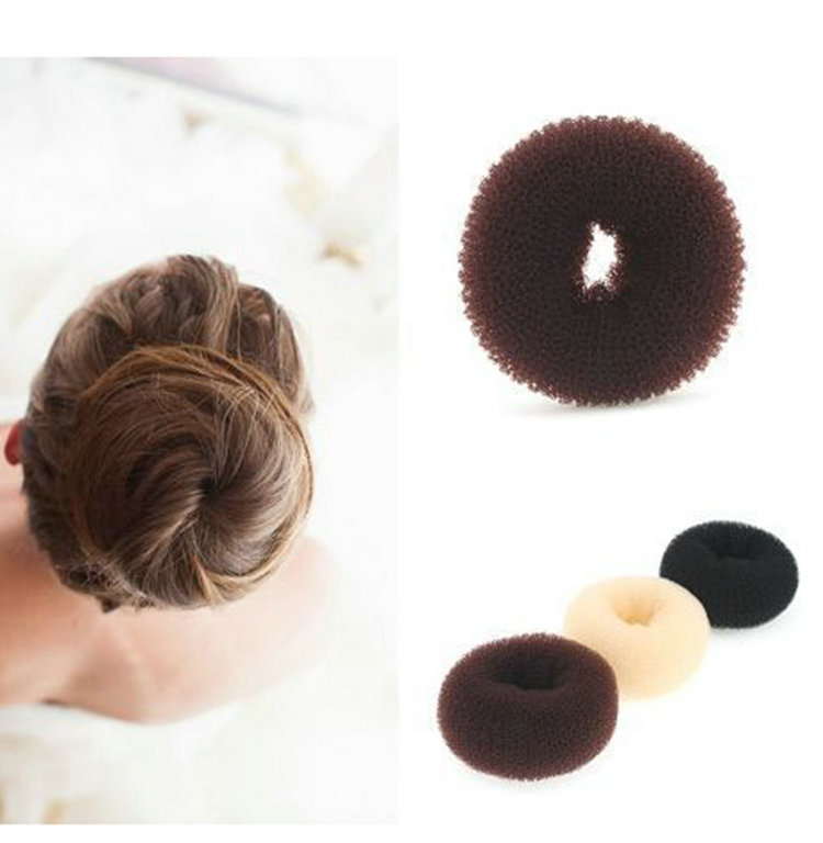 Popular Women's Hair Styling Band Foaming Ball Shape Hairdisk Hair Bun Ring Shaper Lace Hair Accessaries(China (Mainland))