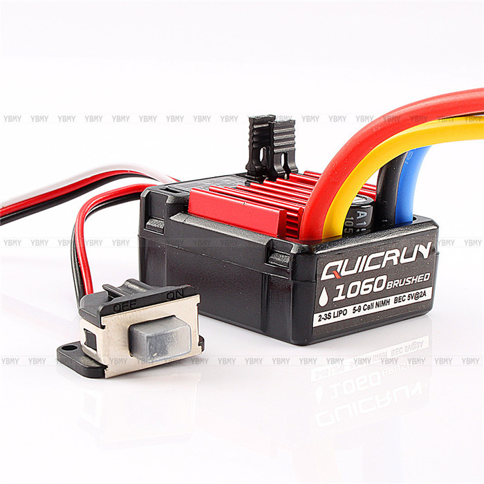 HobbyWing QuicRun 1:10 Brushed 60A Electronic Speed Controller ESC 1060 RC Car 1PC Free Shipping(China (Mainland))