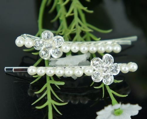 Hair Accessories,Fashion Pearl hair clip 12 pairs/lot
