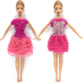 NK 2016 Latest Doll Costume Stunning Handmade Get together ClothesTop Vogue Costume For Barbie Noble Doll Greatest Baby Women'Reward 003A