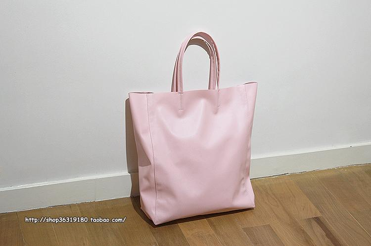 All handmade with C the card/wu peici shopping bag tote shopping bag (ice cream powder)(China (Mainland))