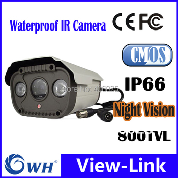 800TVL, 6 / 8 /12mm Big Fixed Lens optional , IP66 Chipsets CCTV Water-proof IR Array Camera