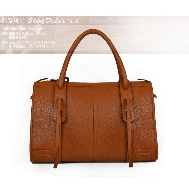 2013 Fashion Genuine Leather Designer Satchel Handbags for Women, Tote Bags, High Quality Lady Purse Brown,Red Free Shipping