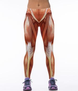 Европа новая цифровая печать тонкий мышц человека запуск колготки женщины упругие Женщины спорт фитнес брюки женские yoga Леггинсы Брюки