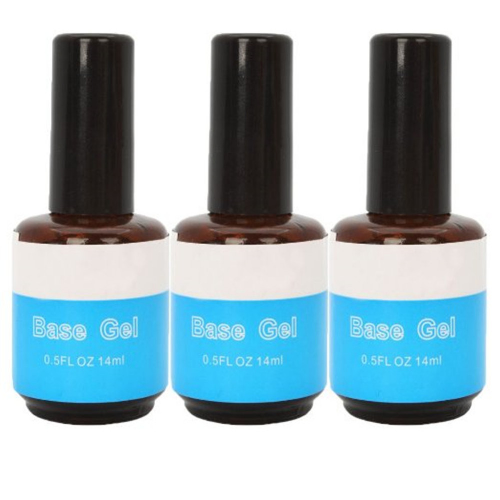 3pcs Nails Primer Nail Art Tool Products Acrylic Base Coat For UV GEL & Acrylic Tips