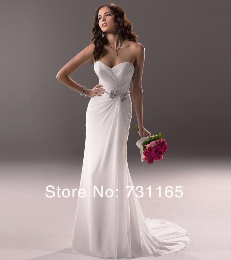 New design custom made elegant ivory sweetheart beaded for Beaded wedding dress designers